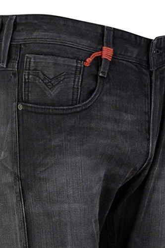 Replay Herren Slim Jeans Anbass Schwarz