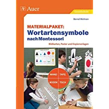 Materialpaket Wortartensymbole nach Montessori: Bildkarten, Poster und Kopiervorlagen für Wand, Tafel, Boden und Tisch (1. bis 4. Klasse)