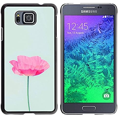 For Samsung GALAXY ALPHA G850 , S-type® Poppy Sun Flower Spring Nature - Art & Design plastica dura Guscio Protettivo Cassa