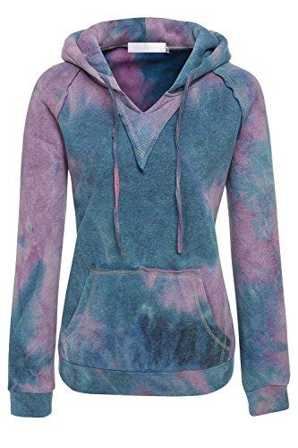 La Poche De Sweat Capuche Cordon Des Vêtements Au Gradient De Kangourou Purpleblue