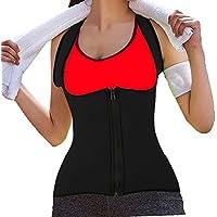 DODOING Damen Zipper Sport Neopren Abnehmen Fitnessgürtel Bauch Korsett Körper Shaper Kompressions Sweat Vest... preisvergleich bei billige-tabletten.eu