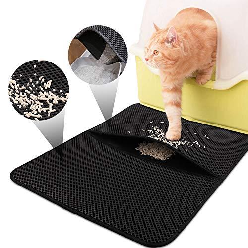 Especificaciones:  Tamaño: 77 * 47cm  Material: PVC    ¿Por qué elegir FREESOO Estera de Arena para Gatos?   ¿Estaba buscando algun tipo de alfombra para poner al lado del arenero de su gata ya que siempre que lo usa se le pegan en las patas arena q...