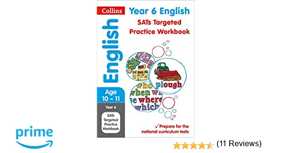 year english sats targeted practice workbook tests  year 6 english sats targeted practice workbook 2018 tests collins ks2 revision and practice amazon co uk collins ks2 9780008125189 books