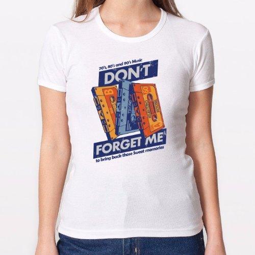 Positivos Camisetas Mujer/Chica - diseño Original Camiseta Chica - Cassette Memories - M