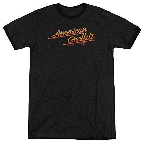 American Graffiti Herren T-Shirt Opaque schwarz schwarz Gr. M, schwarz (Graffiti Ford American Harrison)