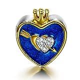 NinaQueen Cupido Ciondolo da donna argento sterling 925 per pandora charms bracciale Regalo compleanno natale san valentino festa della mamma Regali anniversario per moglie madre sposa