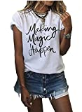 Women's Summer Street Printed Tops Funny Juniors T Shirt Short Sleeve Tees