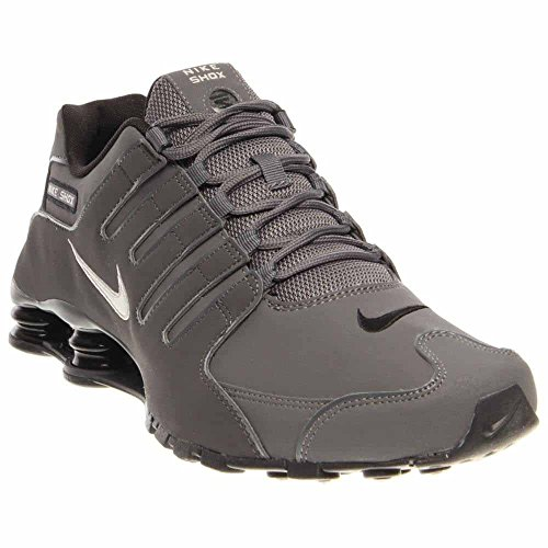 Nike Mens Shox NZ Dark Grey Leather Trainers 41 EU