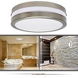 Wandleuchte Deckenleuchte SAVONA II rund IP44 LED E27 230V für bis zu 2x18 Watt; für Wohnraum, Bad, Flur, Wand, Decke; ohne Leuchtmittel