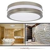 Wandleuchte Deckenleuchte SAVONA II rund IP44 LED E27 230V für bis zu 2x18 Watt; für Wohnraum