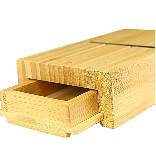 Holzsammlung Bamboo Soap Cutter Mold Box Container with Drawer, Beveler Planer Slicer for Handmade Candles Trimming DIY Making Tools #6