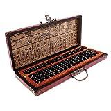Backbayia Holz Vintage Chinesische Arithmetischer Abakus Kinder Mathematik Pädagogisches Spielzeug mit 15 Reihen Perlen