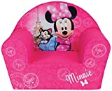 FUN HOUSE 712810 Disney Minnie Paris Fauteuil en Mousse pour Enfant 52 x 33 x 42 cm