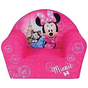 FUN HOUSE Disney miinie Paris Poltrona per bambini, Custodia poliestere/schiuma polyether, 52x 33x 42cm