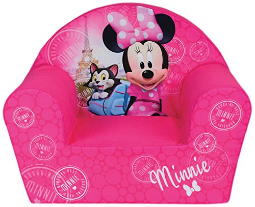 Minnie-möbel Und Mickey (Fun House Disney miinie Paris Sessel für Kinder, Bezug Polyester/Schaumstoff Polyether, 52 x 33 x 42 cm)