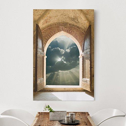 Bilderwelten Leinwandbild - Himmelspforte - Hoch 3:2, Leinwand Leinwandbild XXL Leinwanddruck...