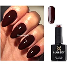 Bluesky A39Gel-Nagellack, Farbe: Ochsenblut, Rot, Burgunderrot, Kastanienbraun, UV, LED, Soak-Off, 10ml plus 2LuvliNail Glanztücher