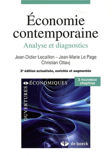 Économie contemporaine : Analyse et diagnostics par Jean-Didier Lecaillon