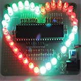 RoboMall Bausatz: Farbenfrohes LED Herz Heart DIY Elektronik Kit zum Löten