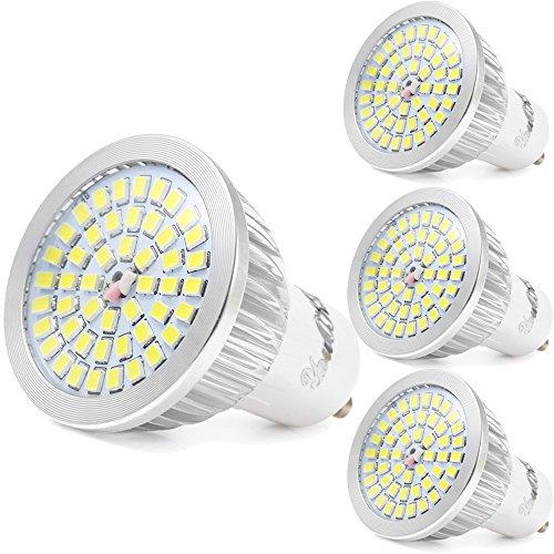 YouOKLight 4 Pezzi, GU10 6W Lampadine LED 48-LED 2835 SMD 480LM 6000K Bianco Freddo LED (Illuminazione interna)
