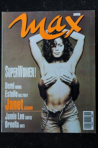 MAX 054 COVER JANET JACKSON DEMI MOORE ESTELLE HALLYDAY JAMIE LEE CURTIS ORNELLA MUTI