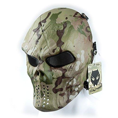 atairsoft táctico de protección Paintball Airsoft plástico Hockey Cosplay mal máscara cara...