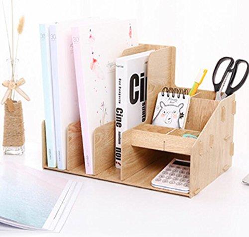 China Hervorragende Waren Store Holz Datei Box Bücherregal Kombination Office Stationery Aufbewahrungsbox Informationen Rahmen Datei Rack, Mehrschichtige Aufbewahrungsbox, B (Lackierte Aufbewahrungsbox)