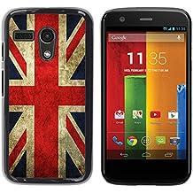 Graphic4You Bandera de Reino Unido Inglaterra Gran Bretaña Union Jack Británica Carcasa Funda Rigida para Motorola Moto G
