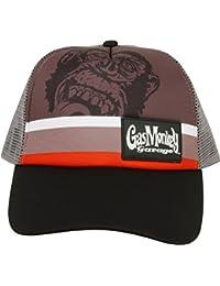 8e6798bbc83dd Gas Monkey Garage Cap Striped Trucker Grey