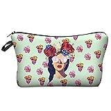 Ducomi® Ariana - Sac de transport Beauty Case pour maquillage, téléphone portable, clés, lunettes de soleil et bijoux pour les femmes - Taille 21 x 13 x 4 cm (Flowers)