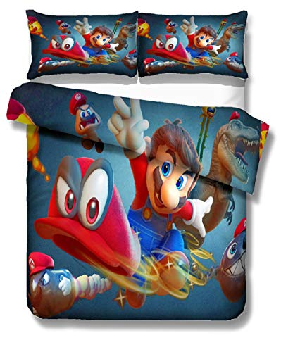 Niños Conjuntos Ropa Cama Super Mario Bros 3D Impresión