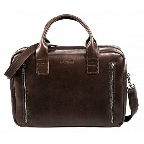 Brodrene echtes Leder Herren Schulter Laptop Tasche Premium R02 (DunkelBraun) DunkelBraun