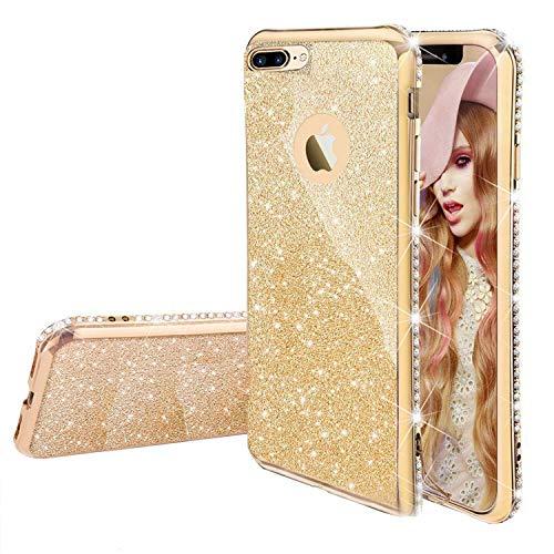 """Miagon für iPhone 6S Plus/6 Plus 5.5"""" Glitzer Hülle,Bling Überzug Glänzend Strass Diamant Weich TPU Silikon Handy Hülle Etui Tasche Schutzhülle Case Cover"""