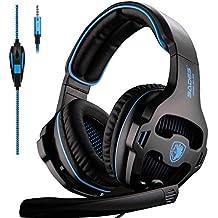 Sades SA810 PS4 Xbox One Auricolare su Orecchio Stereo Gaming Cuffia di  Gioco Basso con Microfono 30de75859f9f