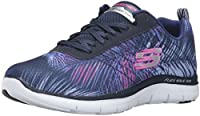 Skechers Flex Appeal 2.0 Tropical Breeze Women's Trainers fitness Light weight Lace up athletic sporty training sneaker designStitching accentsNearly one piece fabric upperInterwoven sporty pattern designWoven ventilating mesh panels at front and sid...