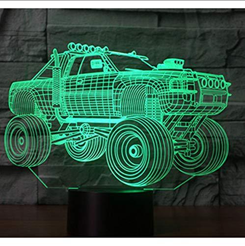 Zlxzlx 3D Led Nachtlicht Panzer Suv Panzerwagen Mit 7 Farben Licht Für Heimtextilien Lampe Erstaunliche Visualisierung Off-Road-V
