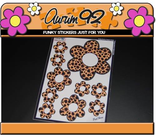 Animal Print Daisy Sticker von aurum92Design-5 Animal Print Sticker