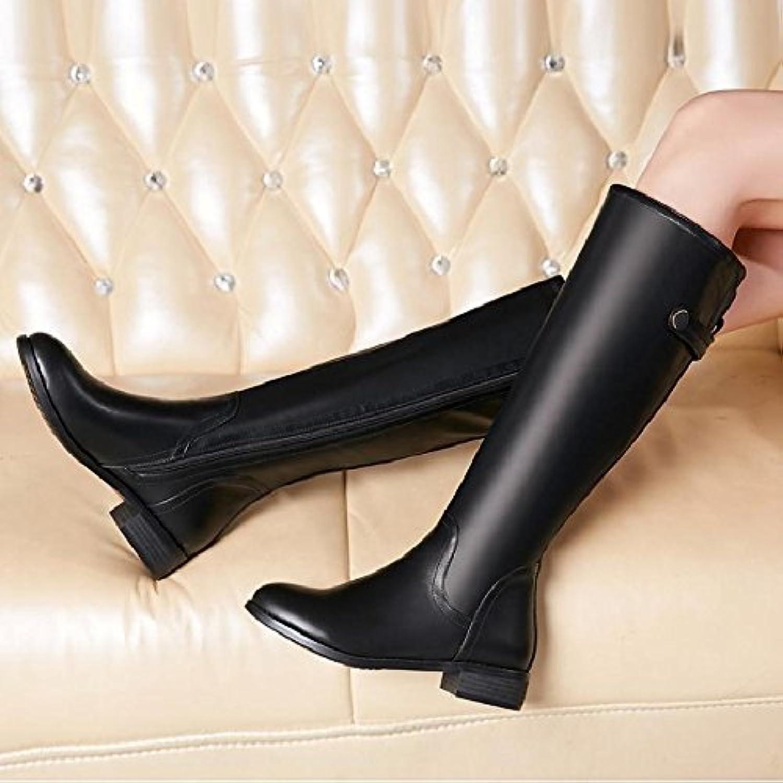 la femme de l'automne et de l'hiver l'hiver l'hiver khskx des bottes hautes bottes épaisses bottes bas martin chevalier bottes talon bas moyen dure talon...b07811tz9h parent f5111a