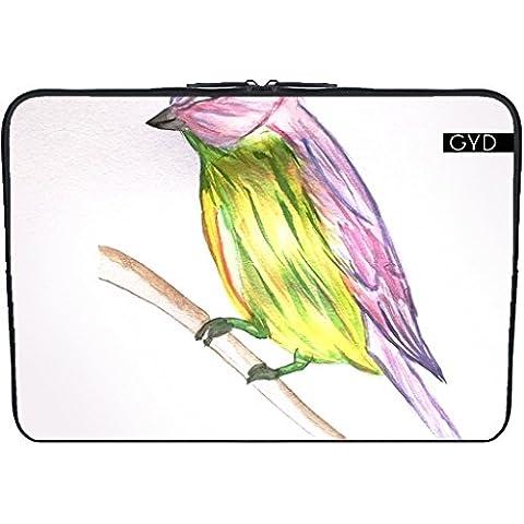 """Coperchio Neoprene Laptop Netbook PC 13.3 """"pollici - Piccolo Uccello by Youlia"""