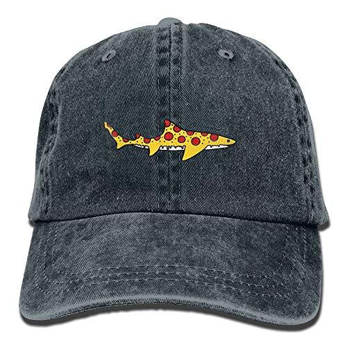 Xdevrbk Men&Women Shark Pizza Cartoon Adjustable Vintage Washed Denim Cotton Dad Hat Baseball Hats Red Multicolor62