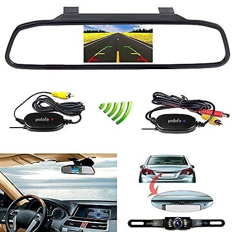 Podofo® Wireless Car Backup Camera with 4.3