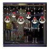QTZJYLW Home Fensteraufkleber Weihnachten Hängende Kugel Muster PVC-Wandaufkleber Für Weihnachtsgeschäft Partyfensterdekorationen