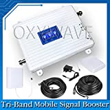OXYWAVE 2G/3G/4G Tri-Band Mobile Cellphone Signal Booster for Home, Hotel, Office, Garage