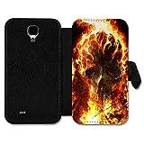 Book Style Flip Handy Tasche Case Schutz Hülle Schale Motiv Etui für Huawei Ascend P7 Mini - A4 Design29