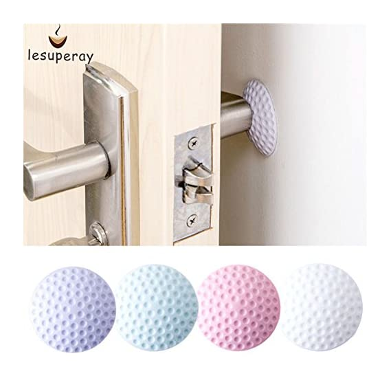ACUTAS all Thickening Mute Door Fenders Golf Modelling Rubber Fender The Handle Door Lock Protective Pad Protection Wall Stick ( 4 Qty)
