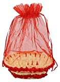 #3: Kosh Decorative Handmade Gift Basket with Net cover - Red