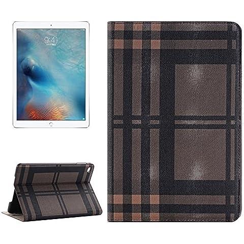 Wkae Case Cover Griglia di struttura orizzontale della cassa del cuoio di vibrazione con il supporto e fessure per carta e portafoglio per iPad Pro 12,9 pollici ( SKU : S-IPRO-1066A )