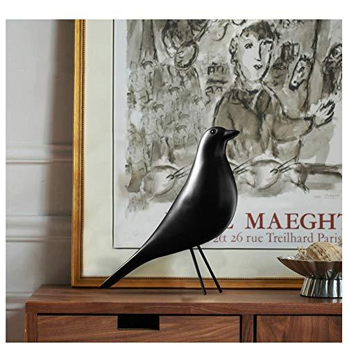 QWERWEFR Harz Handwerk Vogel Figur Statue Büro Ornamente Skulptur Dekoration Zubehör Vogel Skulptur -