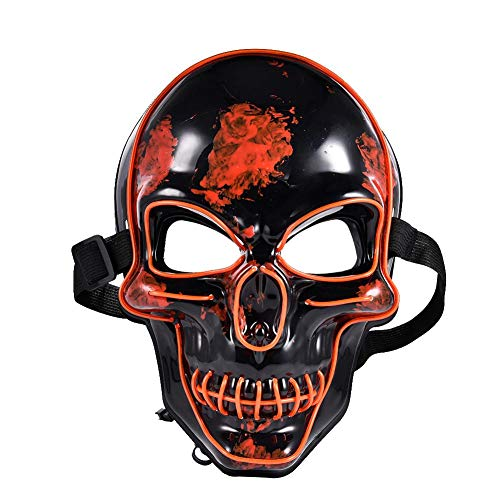 HealthyBear Halloween L LED Maske Purge Masken Wahl Mascara Kostüm DJ Party Leuchten Masken Glow In Dark - Glow Dark Kostüm