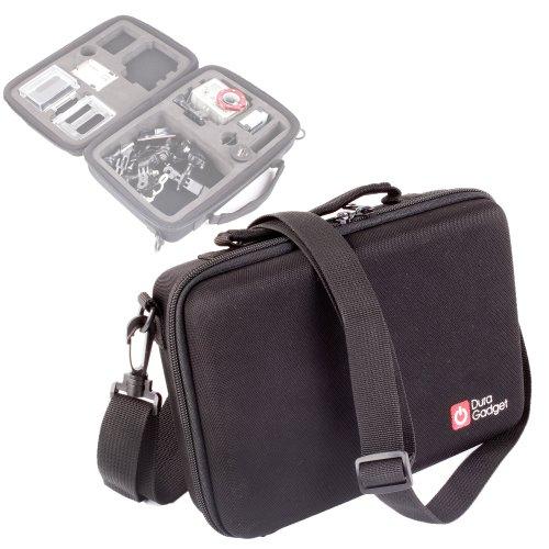 Duragadget Mallette de Transport pour Excelvan Tous Modèles (TC-DV6, TC-Y8, TC-J6 et TC-Q5 Étanche 1080P 12MP H.264 WiFi) Caméra + Accessoires - Compartiments de rangements